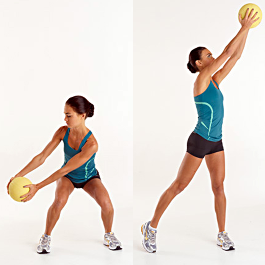 Stability Ball Side Lift: Abdominal Holds